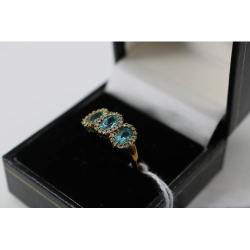 13 - A QVC 9k gold decorative dress ring approx size O/P...