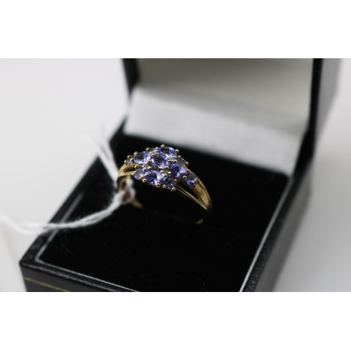 16 - A QVC 9k gold decorative dress ring approx size O/P...