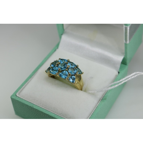 18 - A QVC 9k gold decorative dress ring approx size N/O...