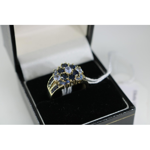 19 - A QVC 9k gold decorative dress ring approx size O/P...