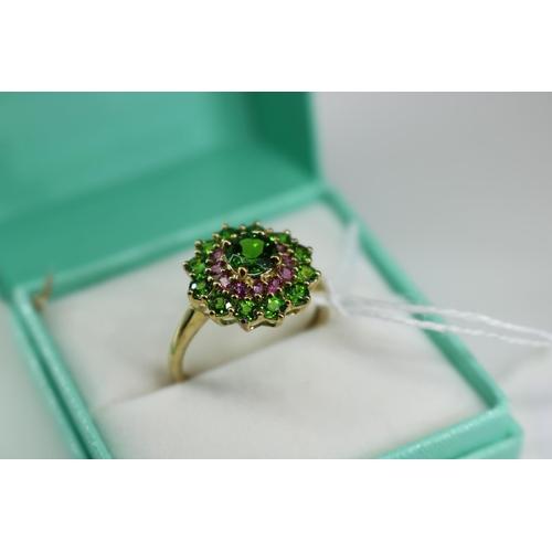 24 - A QVC 9k gold decorative dress ring approx size P/Q...