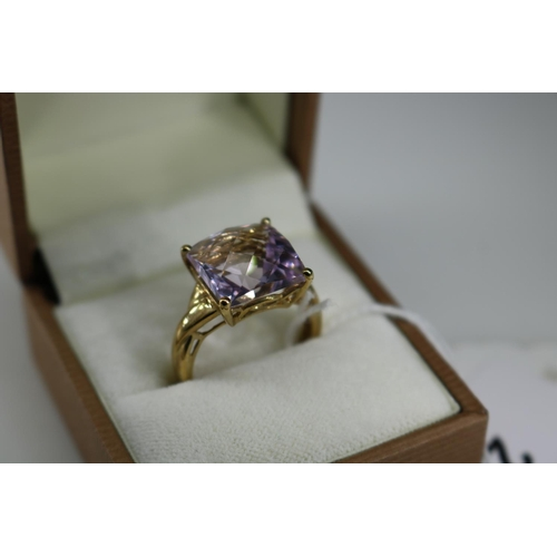29 - A QVC 9k gold decorative dress ring approx size O/P...