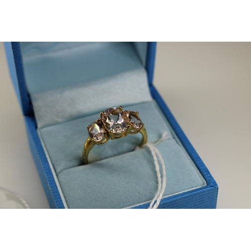 36 - A QVC 9k gold decorative dress ring approx size O...