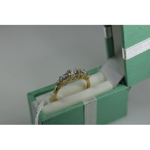 40 - 14ct gold decorative 5 stone dress ring approx size M/N...