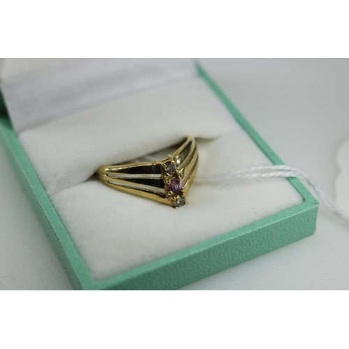 41 - 9ct gold decorative QVC ring approx size O...