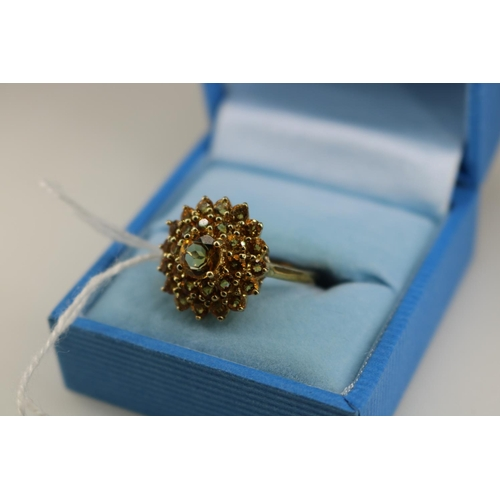 45 - 9ct gold QVC decorative dress ring approx size N/O...