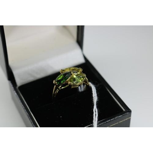46 - 9ct gold QVC decorative dress ring approx size P/Q...