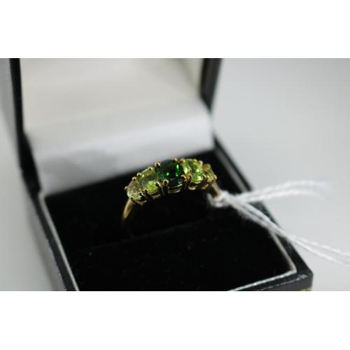 48 - A QVC 9k gold decorative dress ring approx size P/Q...