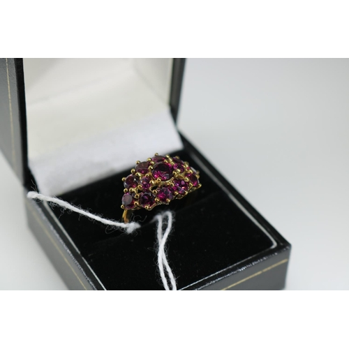58 - 9ct gold QVC decorative dress ring approx size P...