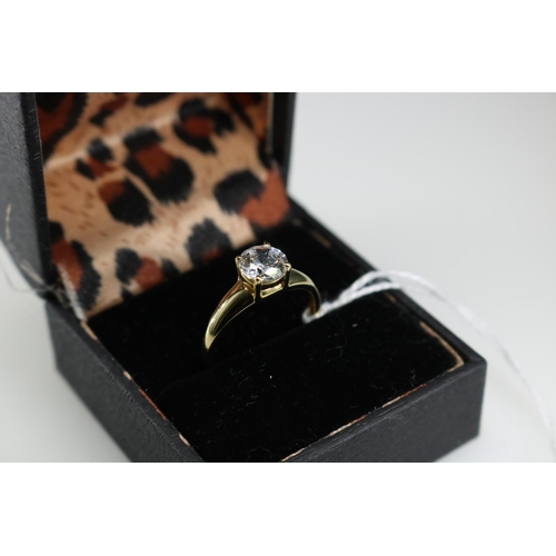 60 - 14ct gold QVC dress ring approx size O...