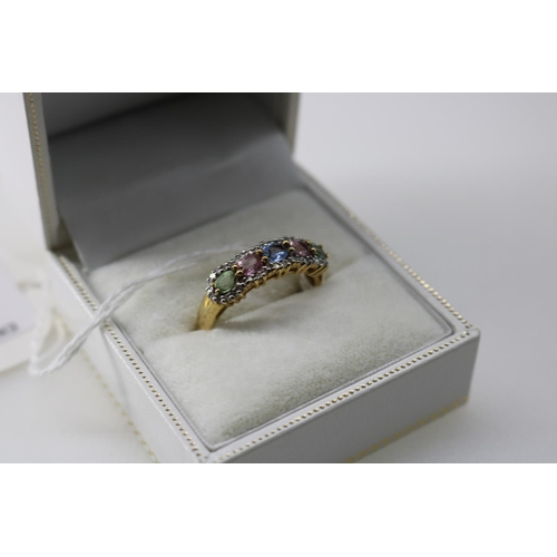 7 - A QVC 9k gold decorative dress ring approx size O/P...