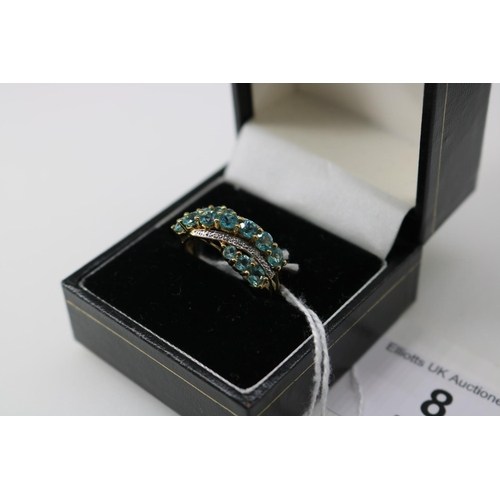 8 - A QVC 9k gold decorative dress ring approx size O...