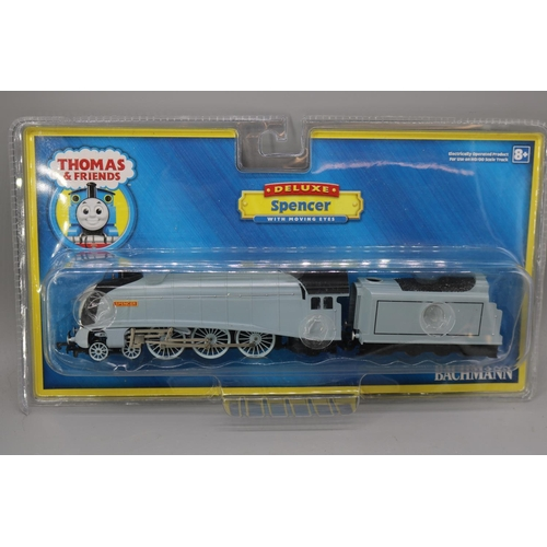 19 - A Bachmann Thomas and friends Spencer with moving eyes - with original packaging...