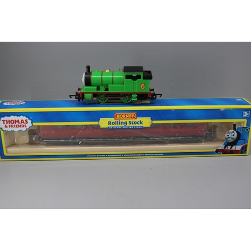 22 - Hornby Thomas and Friends unboxed Percy the Saddle tank engine together with R9702 Thomas and Friend...