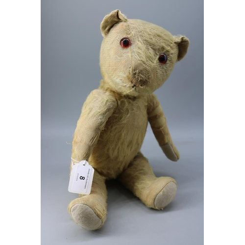 8 - 1930s jointed teddy bear with magazine article...