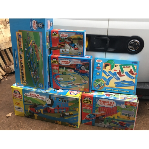 44a - Large qty of Thomas the tank engine mega bloks, most with original boxes but all opened. Not checked...