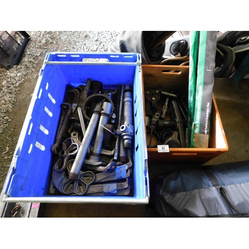 49 - Two boxes of HD bearing pullers etc...