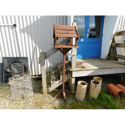13 - Brown bird table...