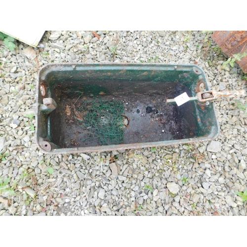 21 - Cast iron toilet system...