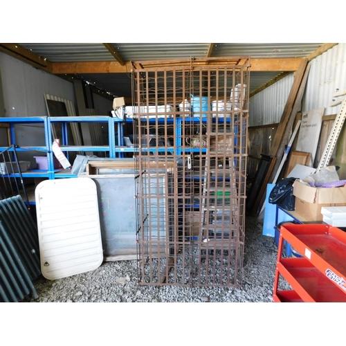 28 - Cast iron 400 bottle vintage wine cage...