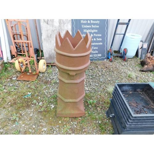 1 - King crown chimney planter...