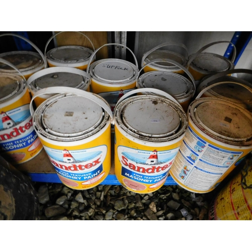 50 - 12 Santex Suffolk tins of paint with 20L mix suffolk with brilliant white...