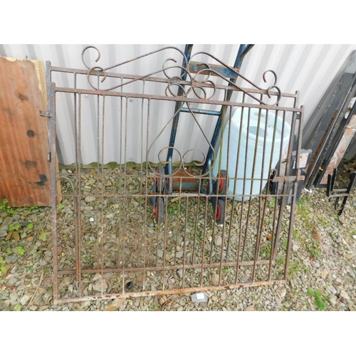 1 - Pair of metal gates...