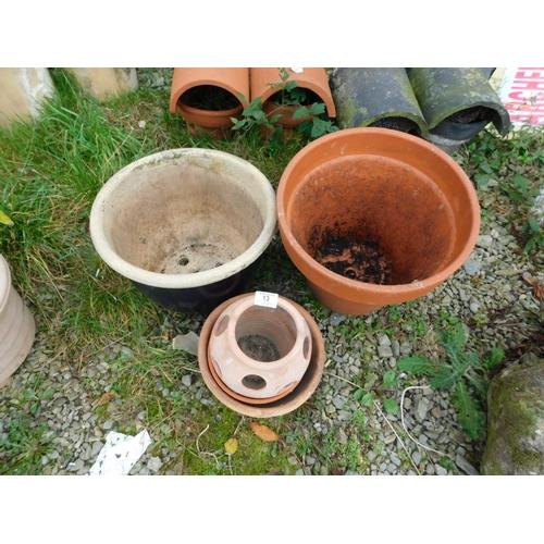 13 - Four plant pots...