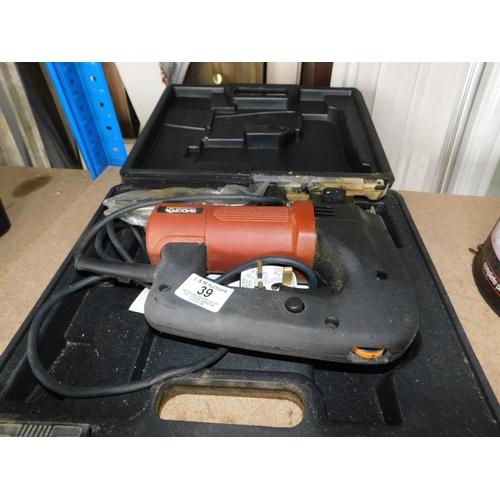 39 - Boxed 240V corded jigsaw...