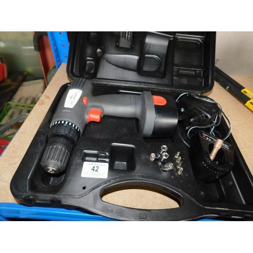 42 - Boxed 14V Drill Driver...