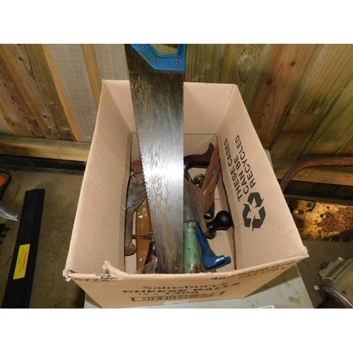 60 - Box assorted vintage tools...