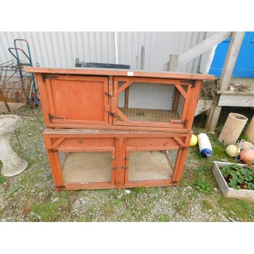 8 - Double rabbit hutch...