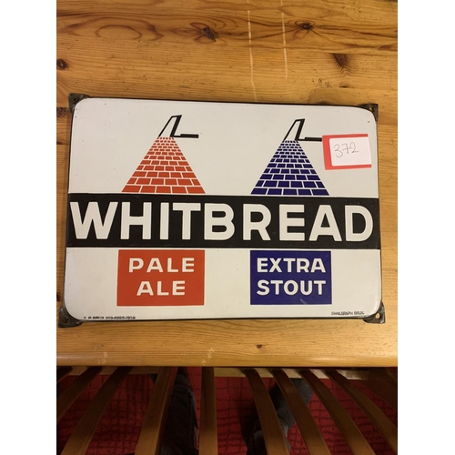 372 - Whitbread enamel sign 1938...