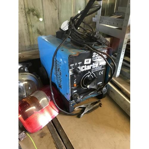 48 - Clarke welder - working...