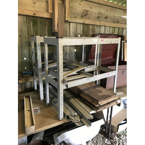 50 - Quantity of metal framed racking...