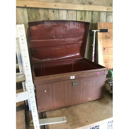 51 - Large metal trunk...