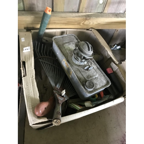 60 - Box of various items including garden heater...