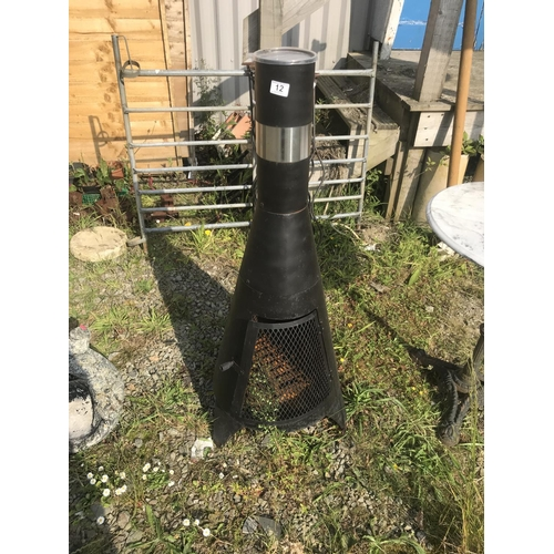 12 - Metal chiminea...