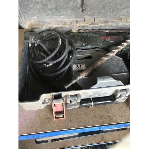 31 - Bosch drill & drill bit A/F...