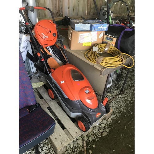 39 - Electric Flymo lawn mower GWO...