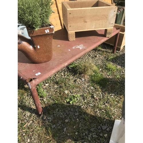 4 - Heavy rustic metal table...