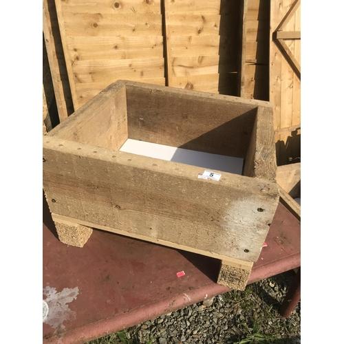 5 - Handmade wooden planter...