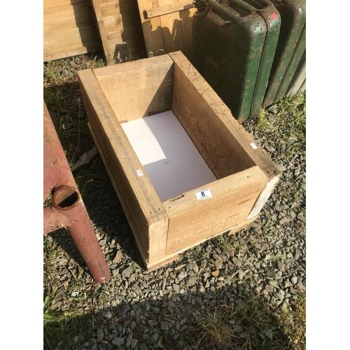 8 - Handmade wooden planter...