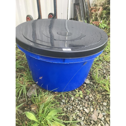 3 - Two large plastic tubs & lids...