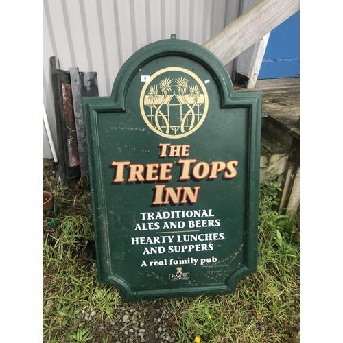 9 - The Tree Tops Inn sign...