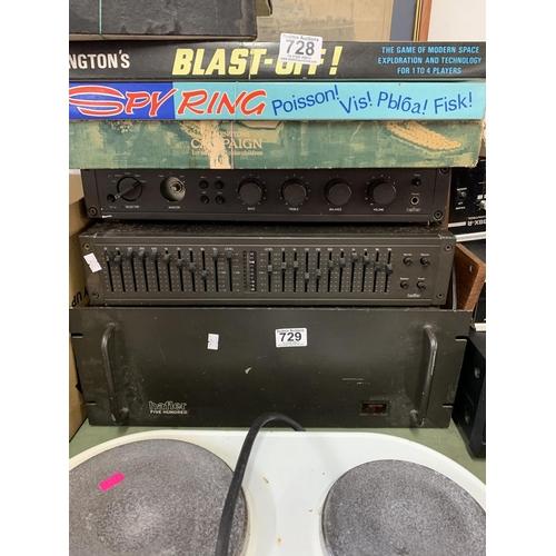 729 - Hafler five hundred unit - amp & graphic...