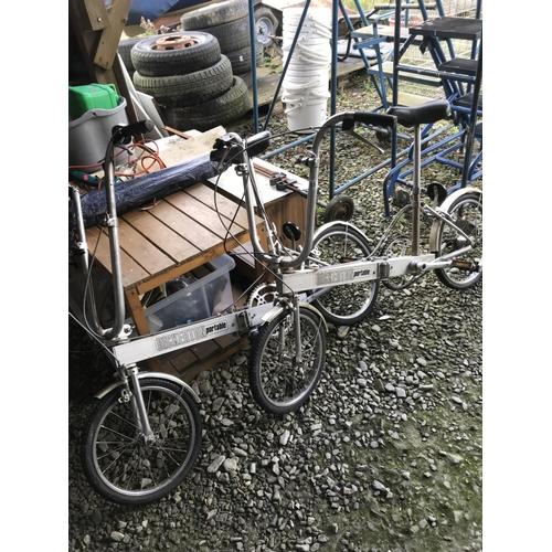 88 - Two Bickerton portable folding bicycles...