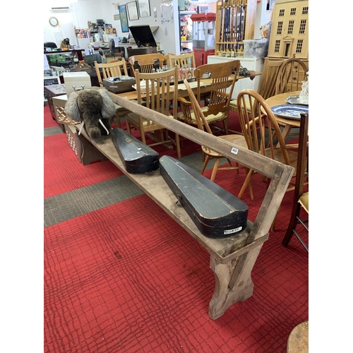 468 - Pew/school bench with hinged reversible back...