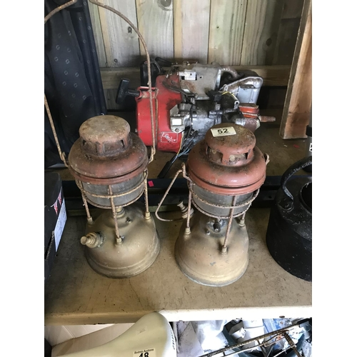 52 - Two tilley lamps vintage...
