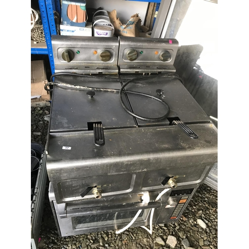 17 - Commercial chip fryer...